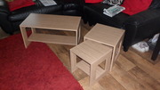 Cubist coffee table and matching twin nest of tables,  brand new.